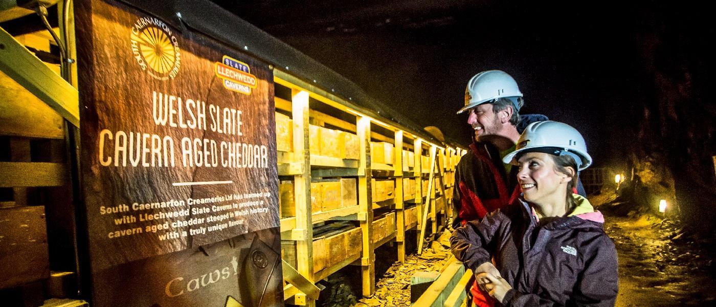 Maturing Cheese at Llechwedd Caverns